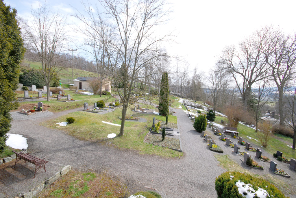 Friedhof Oberneuschönberg - Blick von der Kirchentreppe