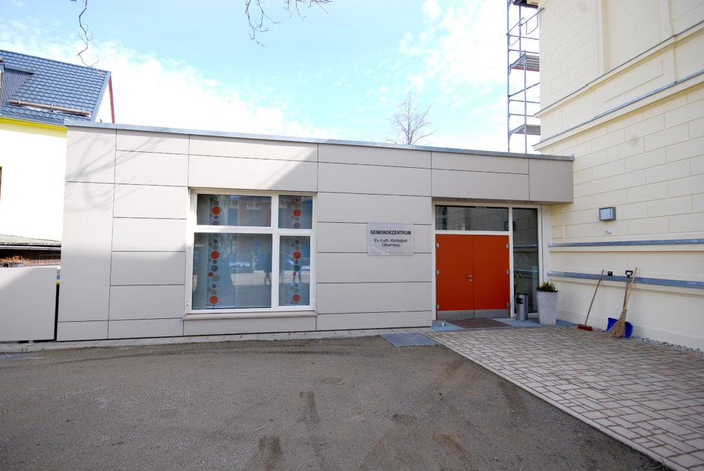 Gemeindezentrum Olbernhau - Eingang