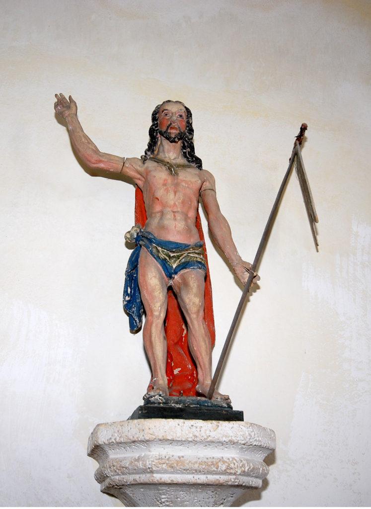 Kirche Dörnthal - der Auferstandene mit Siegesfahne