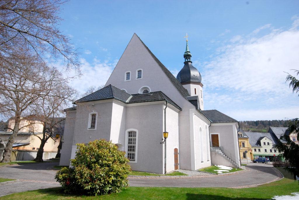 Kirche Olbernhau - Rückansicht