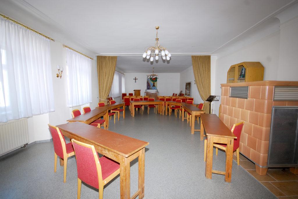 Pfarrsaal im Pfarrhaus Dörnthal
